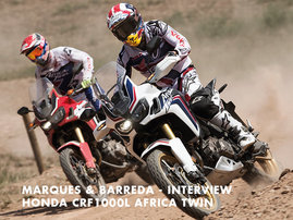 Honda True Adventure -  Marquez - Barreda - Interview